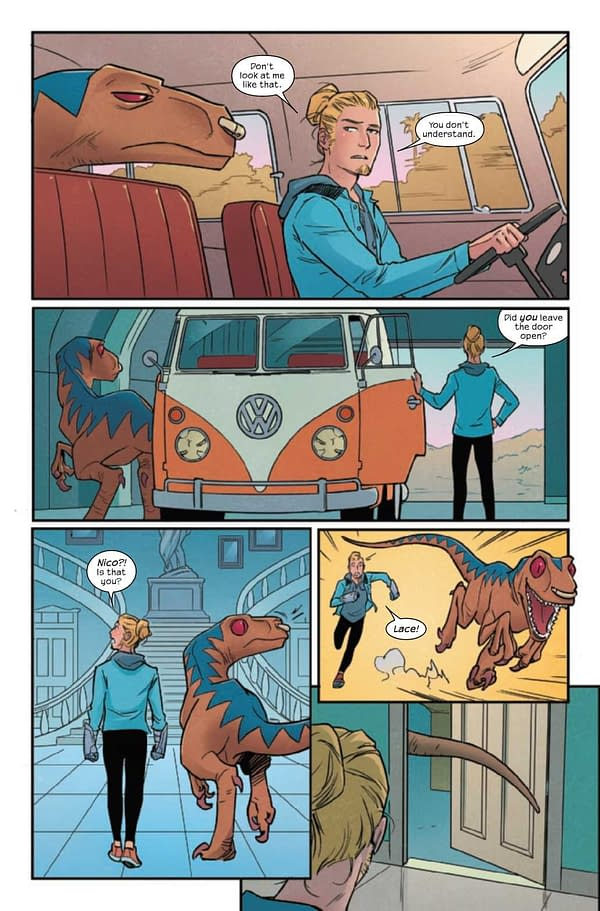 Interior preview page from RUNAWAYS #36