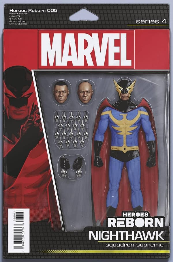 Cover image for HEROES REBORN #5 (OF 7) CHRISTOPHER ACTION FIGURE VAR
