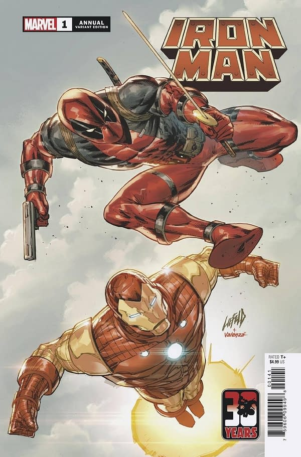 Cover image for IRON MAN ANNUAL #1 LIEFELD DEADPOOL 30TH VAR