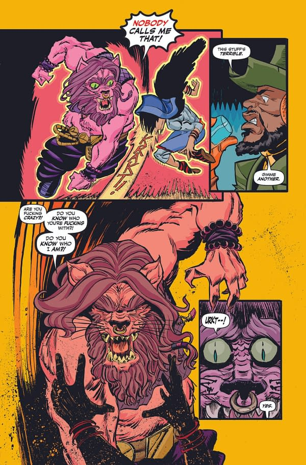 The book so dirty it'll turn your other comics yellow! - Preview art from The Worst Dudes by Aubrey Sitterson and Tony Gregori, in stores June 2nd from Dark Horse Comics