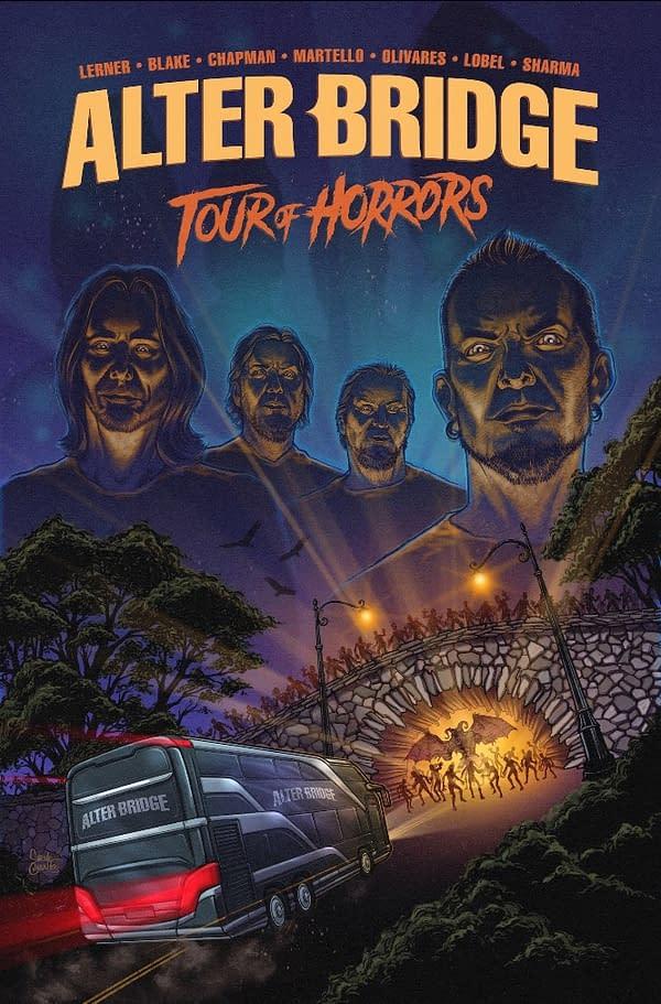 Emily Ryan Lerner writes Alter Bridge: Tour Of Horrors Graphic Novel
