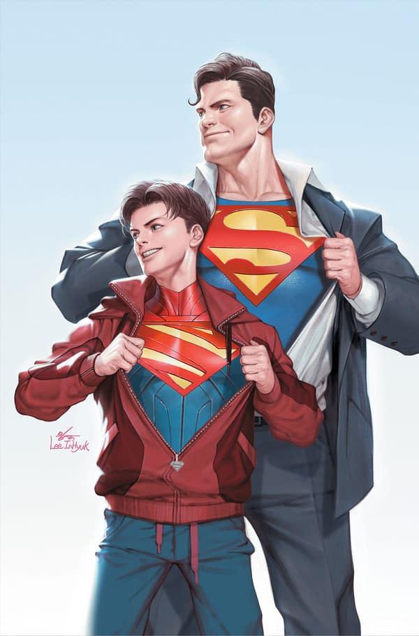 Cover image for SUPERMAN #32 CVR B INHYUK LEE CARD STOCK VAR