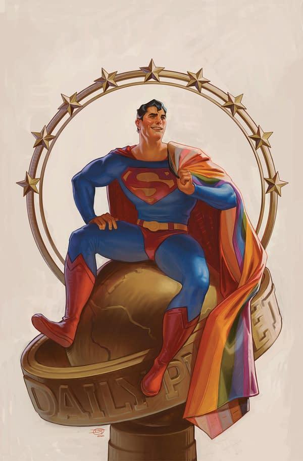 Cover image for SUPERMAN #32 CVR C DAVID TALASKI PRIDE MONTH CARD STOCK VAR