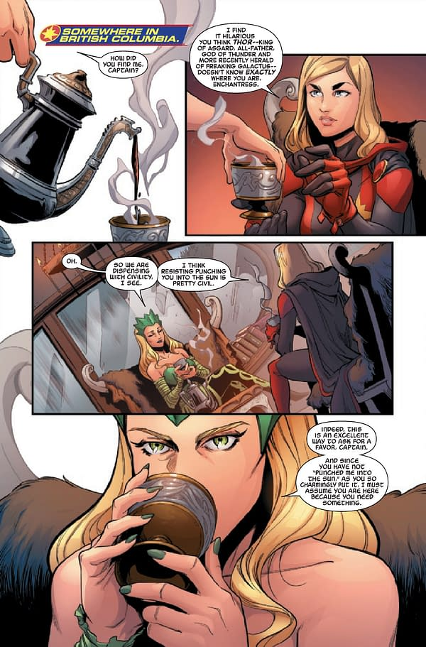 Interior preview page from CAPTAIN MARVEL #29