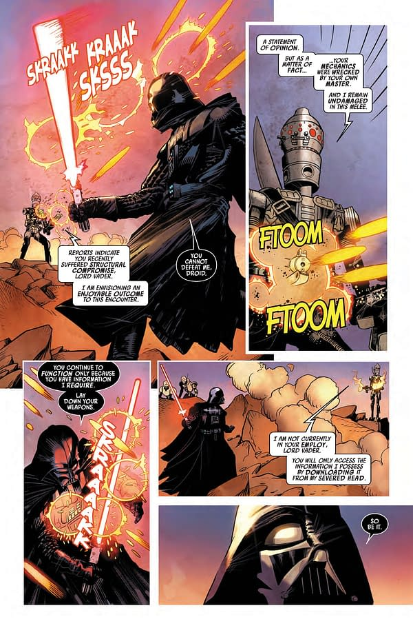 Interior preview page from STAR WARS DARTH VADER #13 WOBH