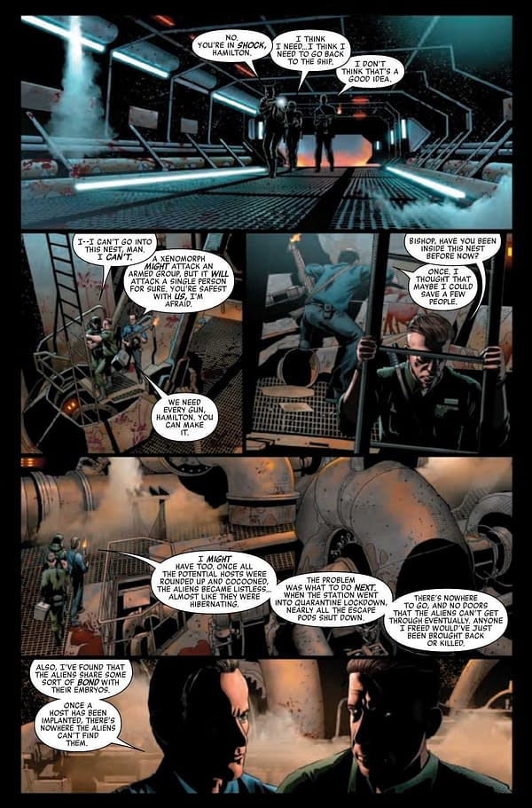 Interior preview page from ALIEN #4