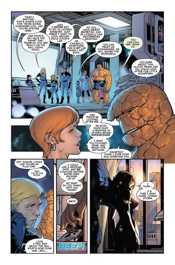 Interior preview page from FANTASTIC FOUR #33