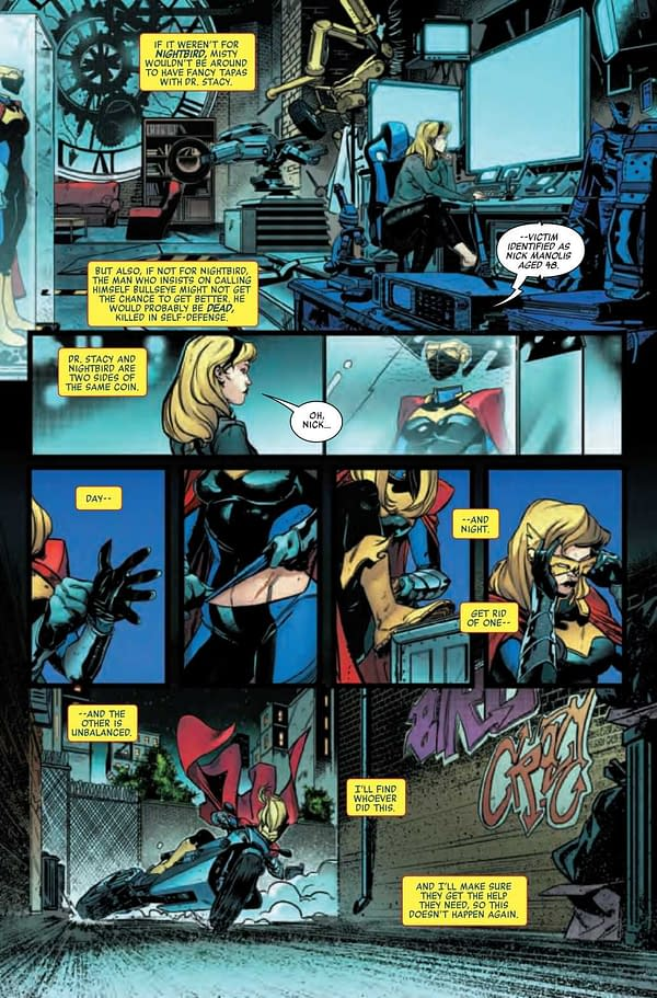 Interior preview page from HEROES REBORN NIGHT-GWEN #1