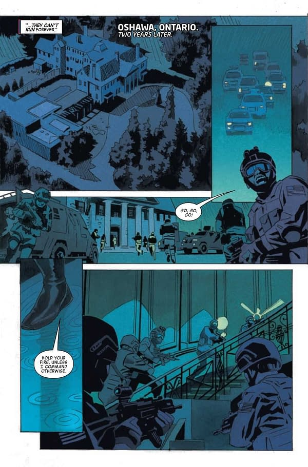 Interior preview page from HEROES REBORN WEAPON X AND FINAL FLIGHT #1