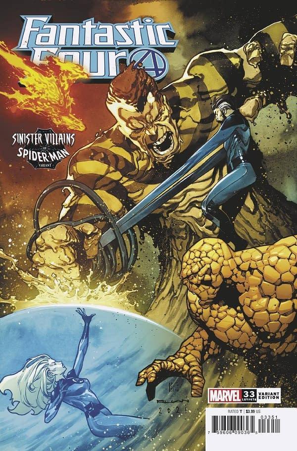 Cover image for FANTASTIC FOUR #33 RUAN SPIDER-MAN VILLAINS VAR
