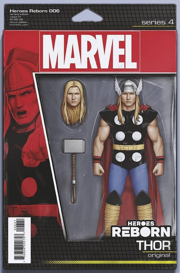 Cover image for HEROES REBORN #6 (OF 7) CHRISTOPHER ACTION FIGURE VAR