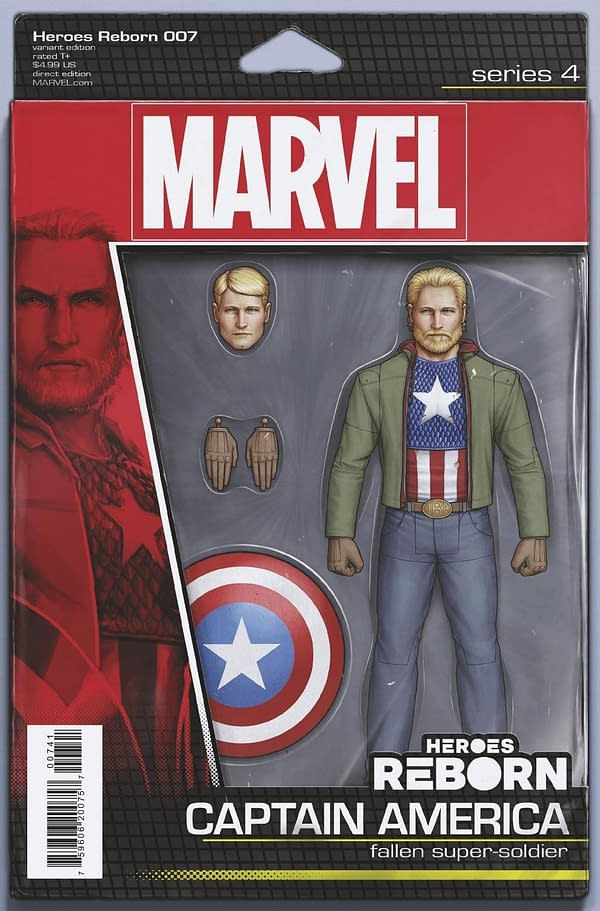 Cover image for HEROES REBORN #7 (OF 7) CHRISTOPHER ACTION FIGURE VAR