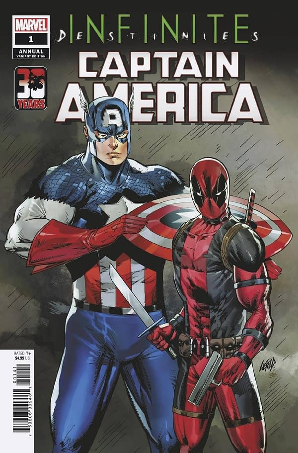 Cover image for CAPTAIN AMERICA ANNUAL #1 LIEFELD DEADPOOL 30TH VAR