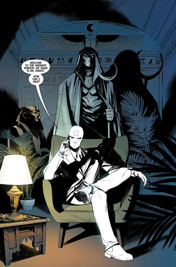 Interior preview page from MAY210540 MOON KNIGHT #1, by (W) Jed MacKay (A) Alessandro Cappuccio (CA) Steve McNiven, in stores Wednesday, July 21, 2021 from MARVEL COMICS