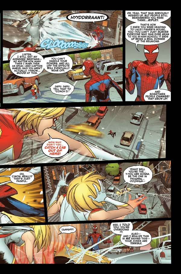 Interior preview page from AMAZING SPIDER-MAN ANNUAL #2 INFD