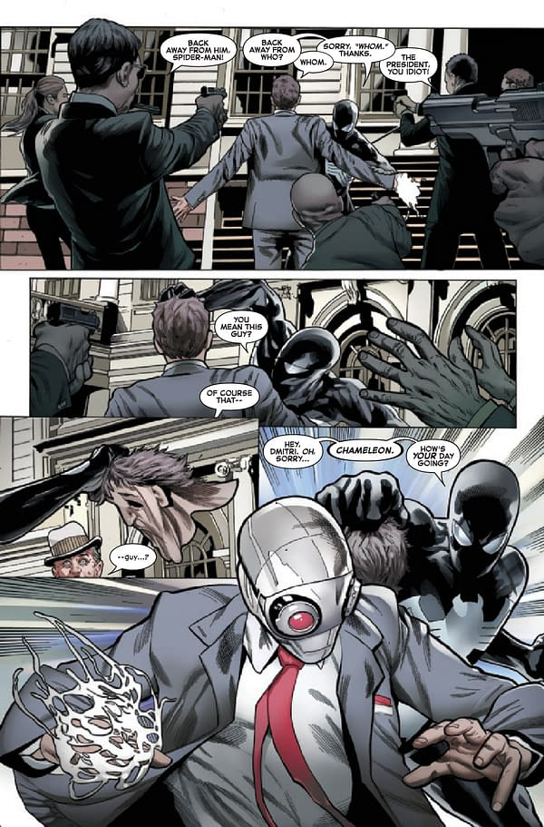 Interior preview page from SYMBIOTE SPIDER-MAN CROSSROADS #1 (OF 5)