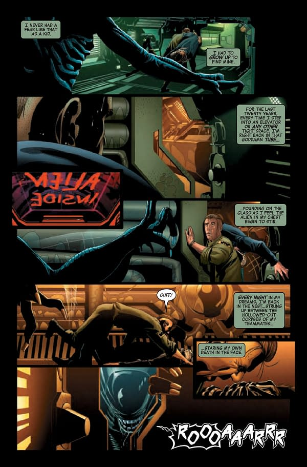 Interior preview page from ALIEN #5