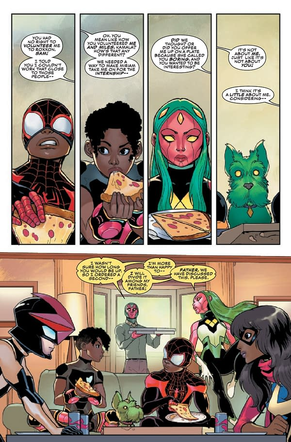Interior preview page from CHAMPIONS #8