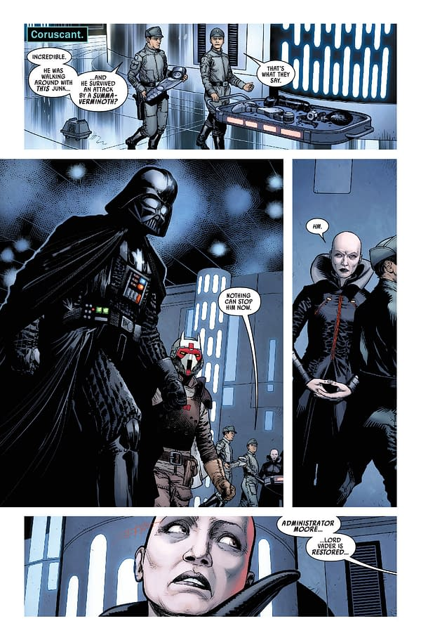 Interior preview page from STAR WARS DARTH VADER #14 WOBH