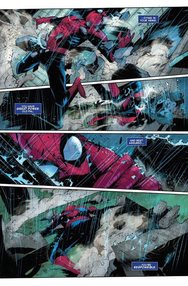 Interior preview page from AMAZING SPIDER-MAN #71 SINW
