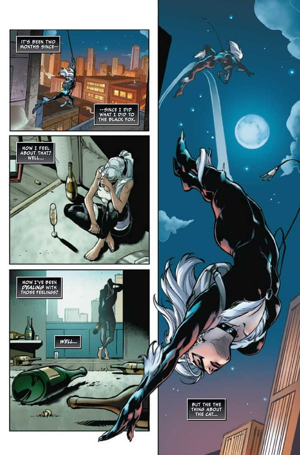 Interior preview page from BLACK CAT #8