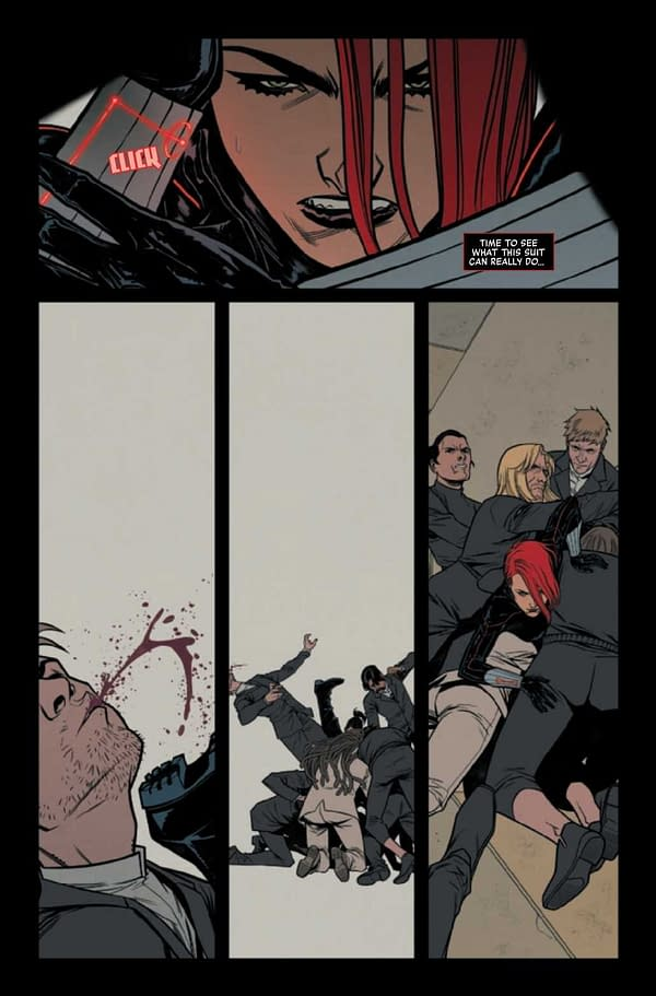 Interior preview page from BLACK WIDOW #9