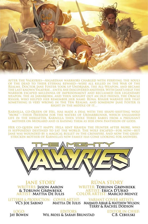 Interior preview page from MIGHTY VALKYRIES #4 (OF 5)
