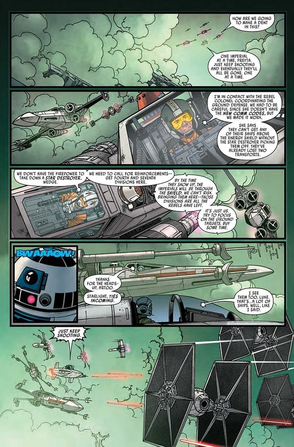 Interior preview page from STAR WARS #15 WOBH