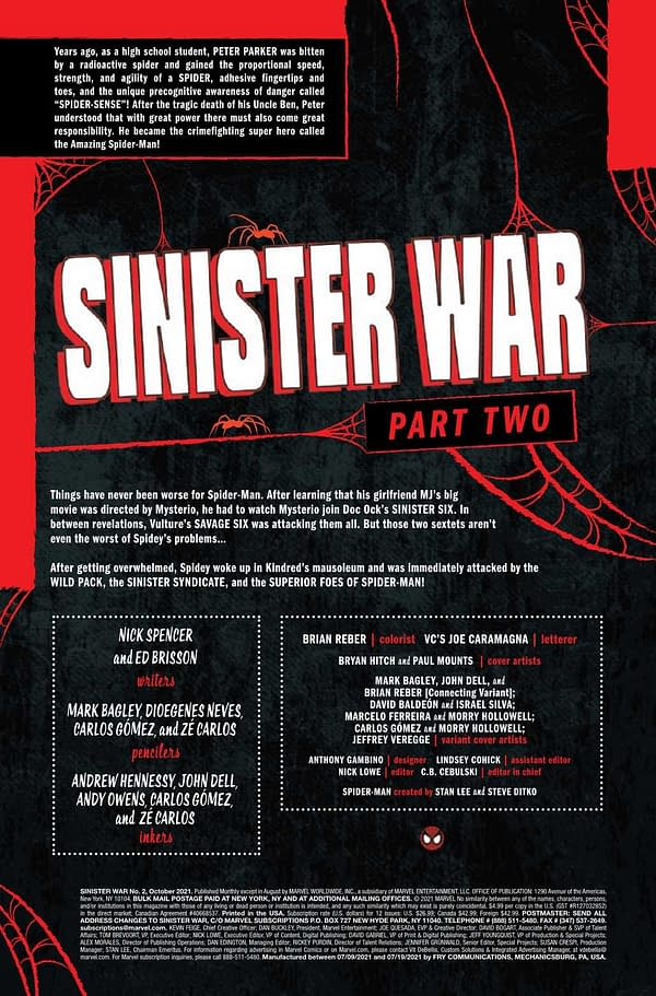 Interior preview page from SINISTER WAR #2 (OF 4)