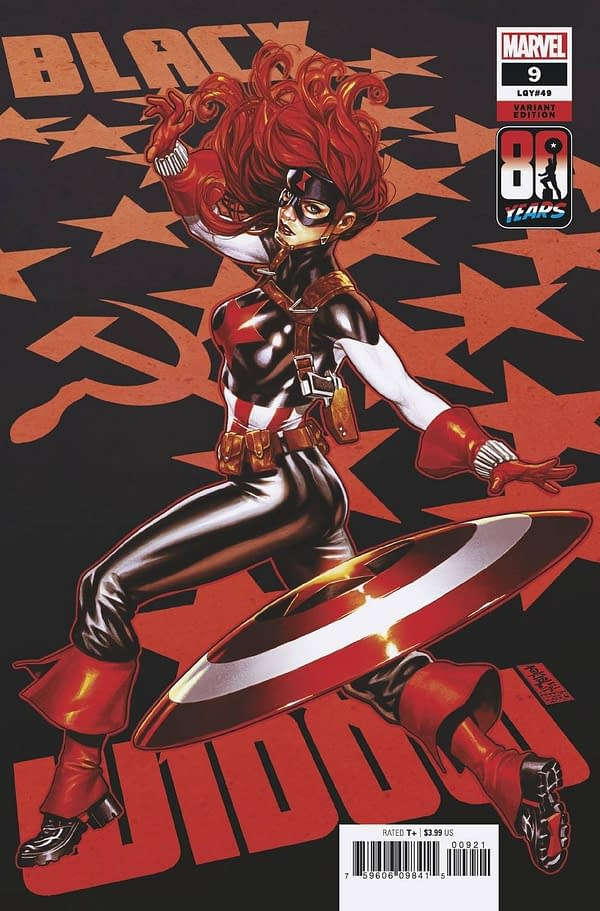 Cover image for BLACK WIDOW #9 BROOKS CAPTAIN AMERICA 80TH VAR