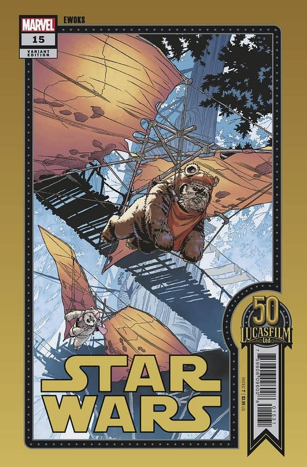 Cover image for STAR WARS #15 SPROUSE LUCASFILM 50TH VAR WOBH