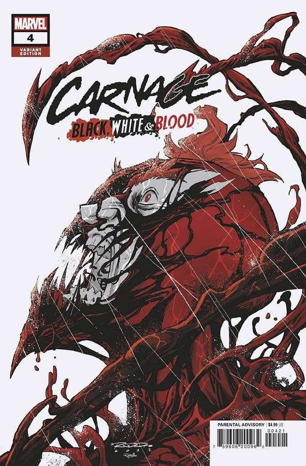 Cover image for CARNAGE BLACK WHITE AND BLOOD #4 (OF 4) RANDOLPH VAR