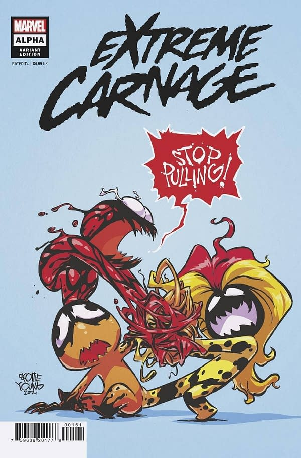 Cover image for EXTREME CARNAGE ALPHA #1 YOUNG VAR