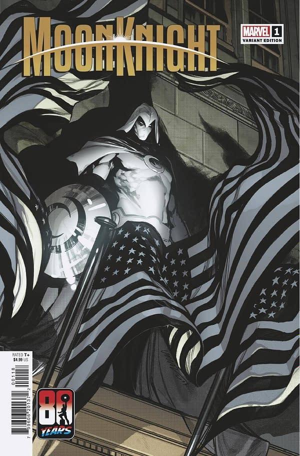 Cover image for MOON KNIGHT #1 LARRAZ CAPTAIN AMERICA 80TH VAR