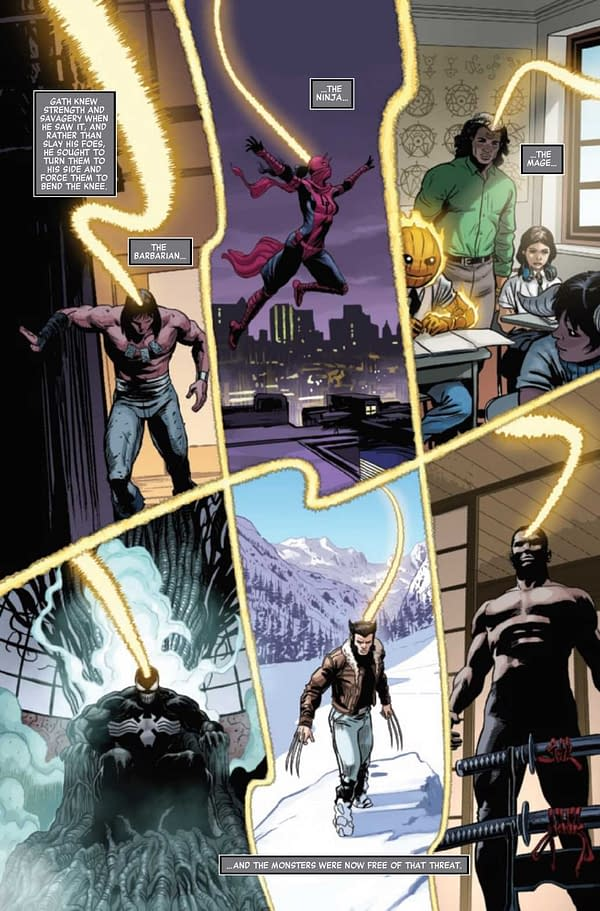 Interior preview page from SAVAGE AVENGERS #23