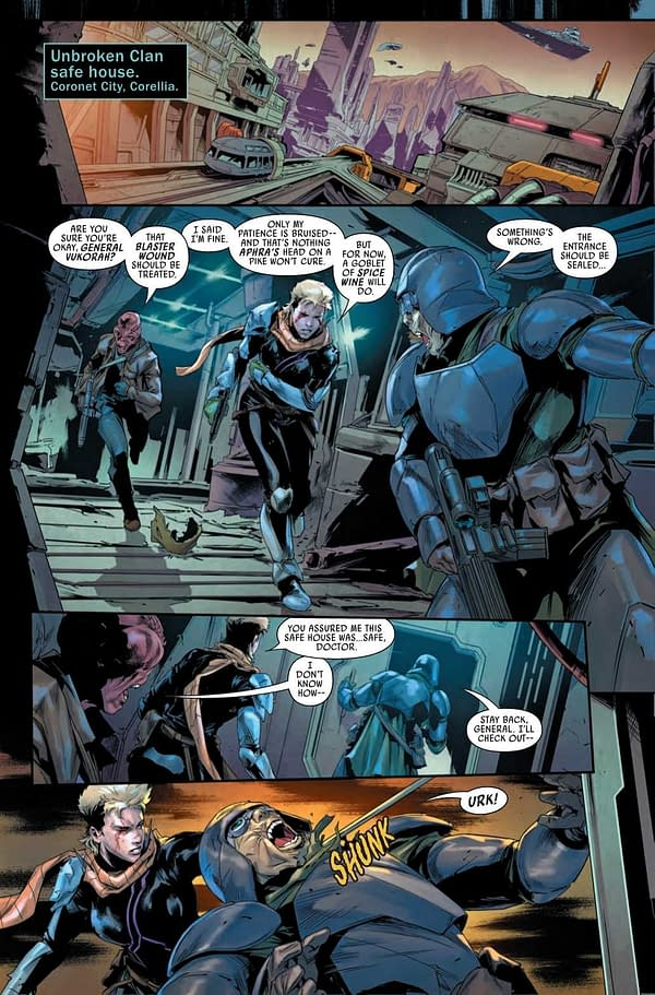 Interior preview page from STAR WARS BOUNTY HUNTERS #15 WOBH