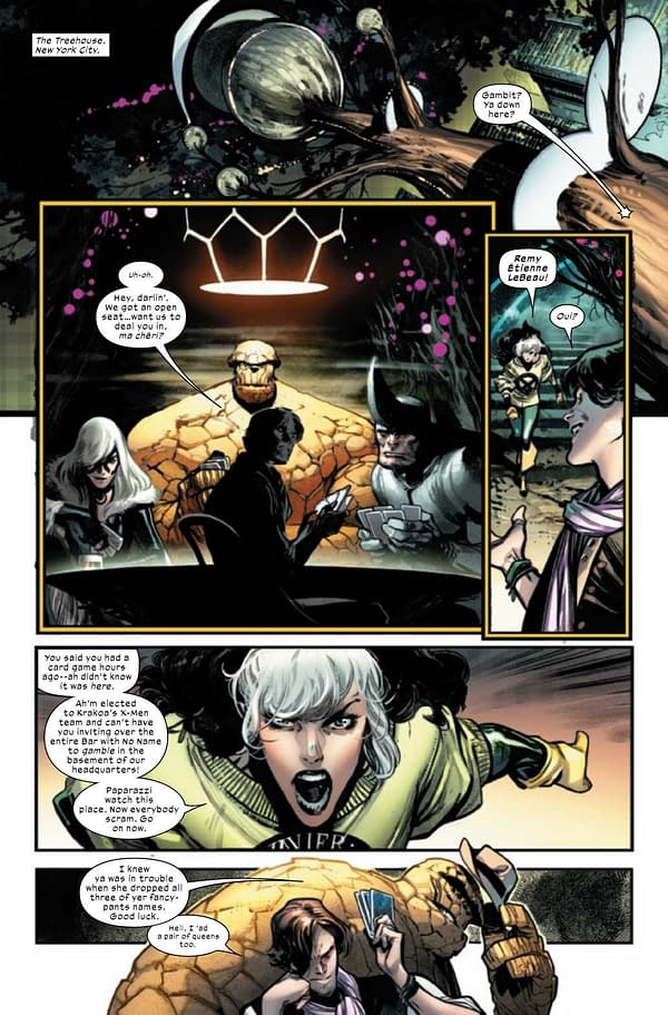 Interior preview page from X-MEN #2