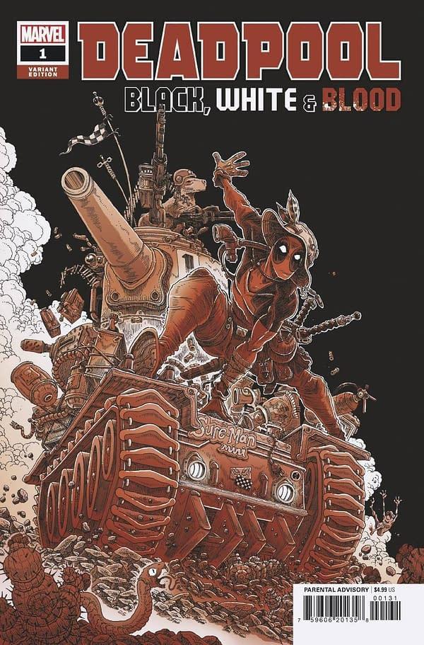 Cover image for DEADPOOL BLACK WHITE BLOOD #1 (OF 5) STOKOE VAR