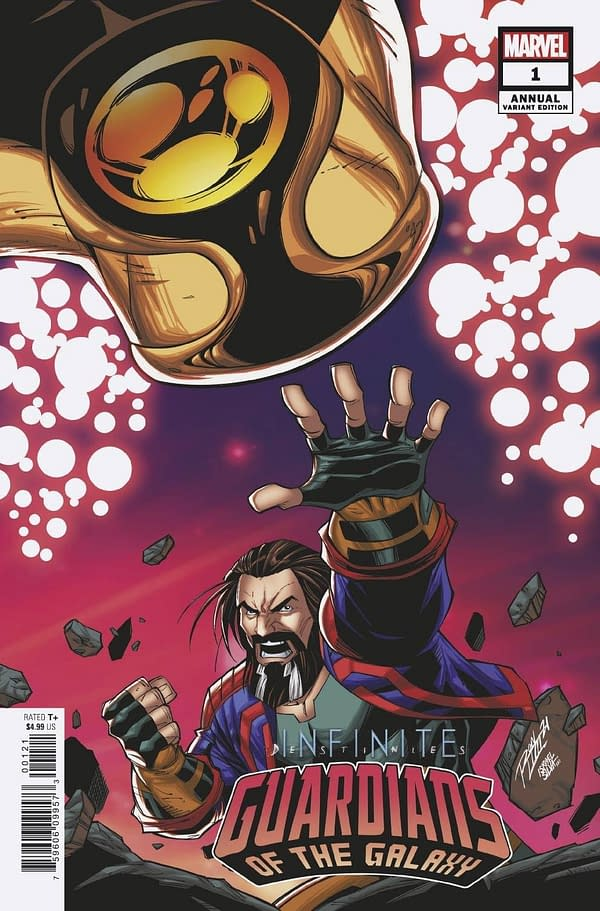 Cover image for GUARDIANS OF THE GALAXY ANNUAL #1 CONNECTING VAR INFD