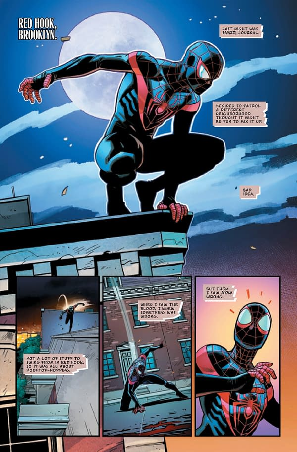 Interior preview page from MILES MORALES SPIDER-MAN ANNUAL #1 INFD