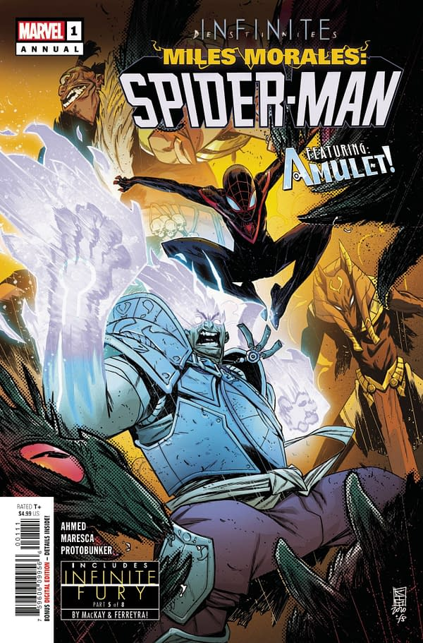 Cover image for MILES MORALES SPIDER-MAN ANNUAL #1 INFD