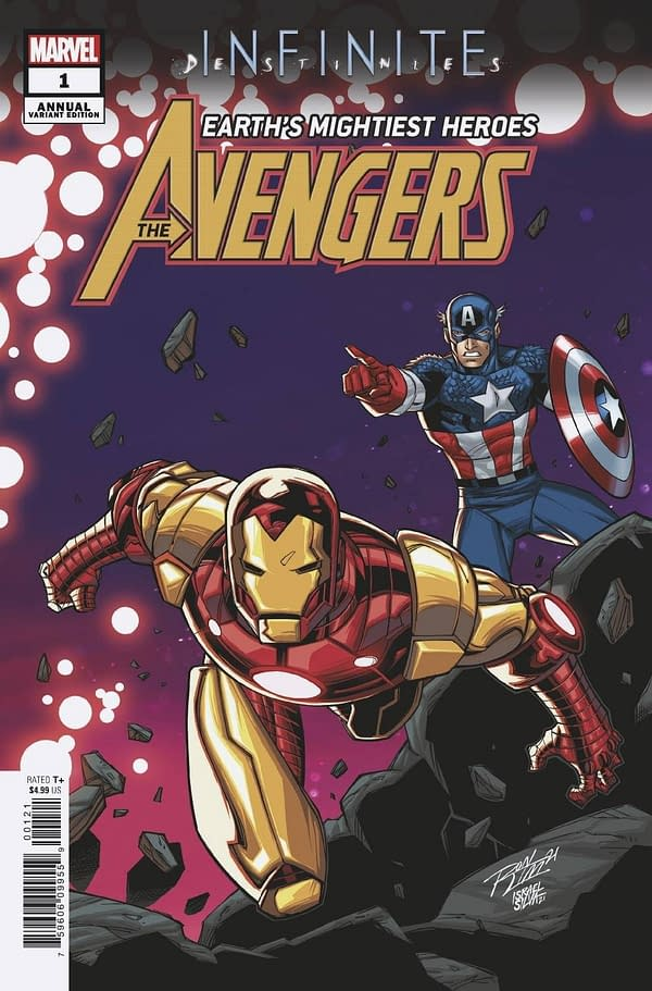 Cover image for AVENGERS ANNUAL #1 RON LIM CONNECTING VAR INFD