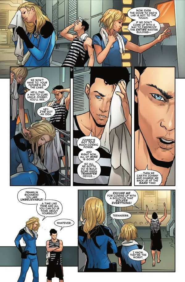 Interior preview page from FANTASTIC FOUR #36