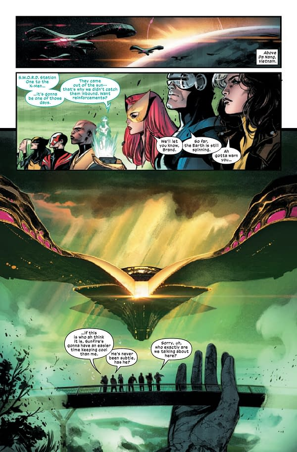 Interior preview art from JUL210646 X-MEN #3, by (W) Gerry Duggan (A / CA) Pepe Larraz, in stores Wednesday, September 22, 2021 from MARVEL COMICS