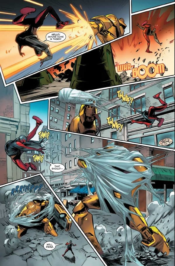 Interior preview page from MILES MORALES SPIDER-MAN #30