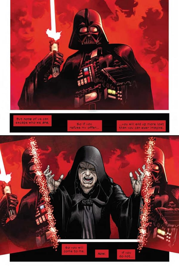 Interior preview page from STAR WARS DARTH VADER #16 WOBH