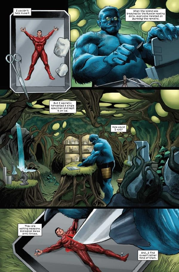 Interior preview page from X-FORCE #23