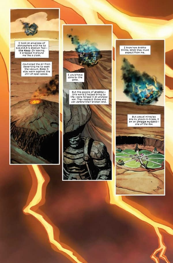 Interior preview page from SWORD #8