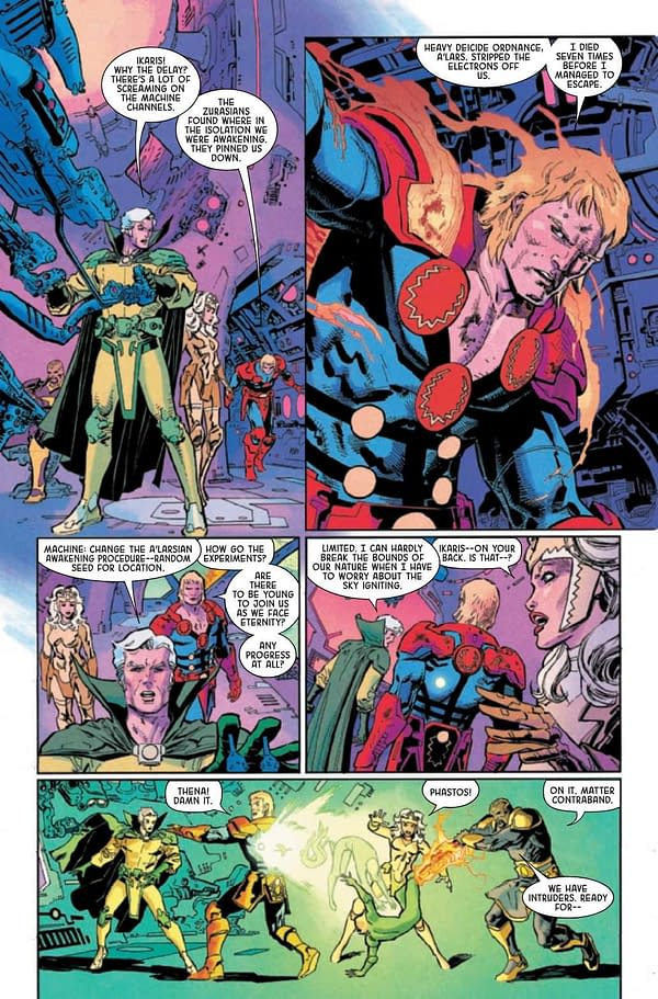 Interior preview page from ETERNALS THANOS RISES #1