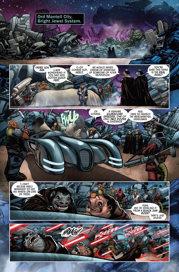 Interior preview page from STAR WARS WAR BOUNTY HUNTERS BOUSHH #1